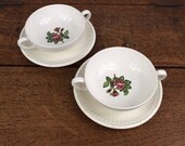 Set of two soup or cafe a...