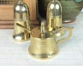 Vintage brass salt shaker...