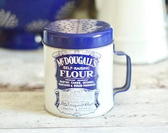 1970's retro Mc Dougall's flour tin flour sifter/shaker
