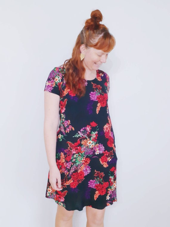 The Ziggy dress in black bohemian floral