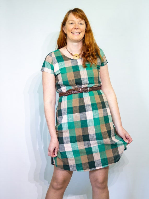 The Ziggy dress in green gingham