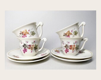 French Vintage Limoges Porcelain Coffee Service - Raynaud Limoges Manufacture