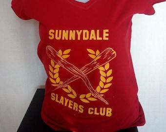 t-shirt women buffy the vampire slayers club geek joss whedon tv series