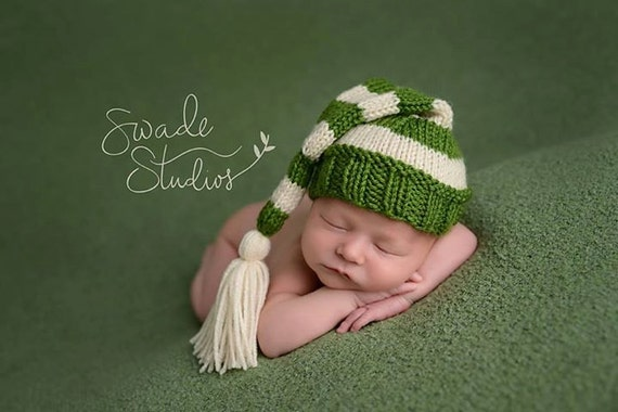 Stocking Hat with Tassel - Knitting Pattern - Newborn - a68583dd79d
