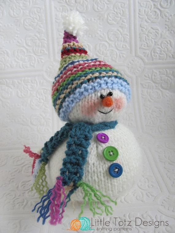 Snowman Knitting Pattern | Etsy
