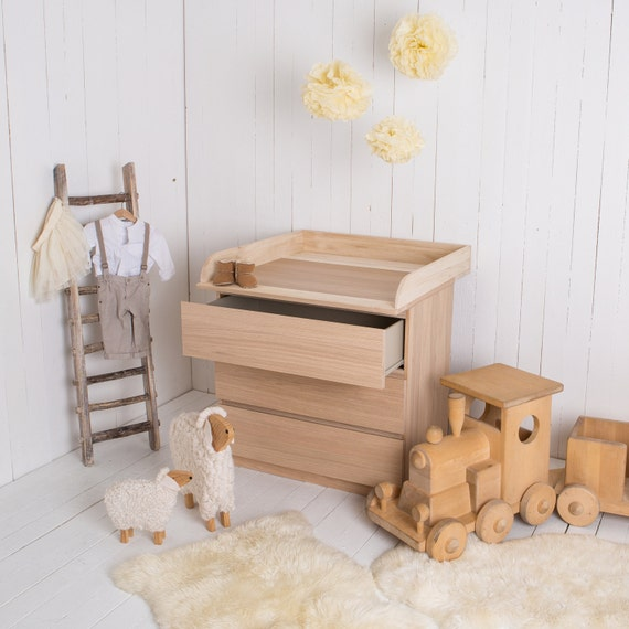 NEW, Natural Wood! Changing Unit, Table Top, Cot Top For IKEA Malm Chest Of  Drawers
