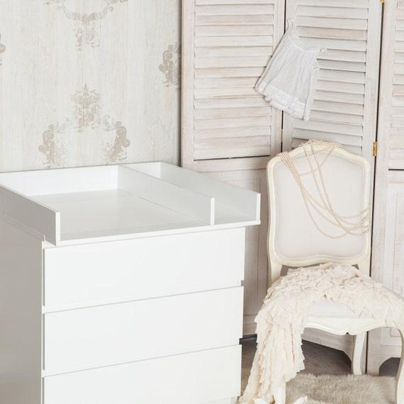 Puckdaddy Wickelaufsatz + Trennfach für IKEA Malm Kommode in Weiß