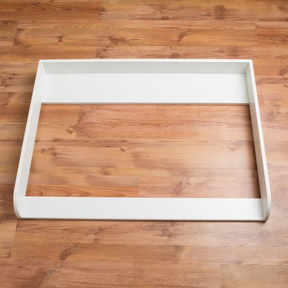 Puckdaddy Xxl Extraround Changer Changing Table Top In White For All Ikea Hemnes Drawers In 1 08m