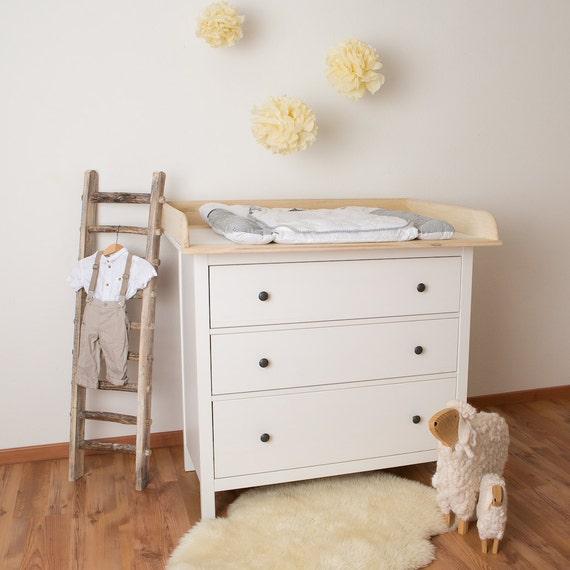 ea646f7ed036da Puckdaddy XXL bois naturel! Plan à langer en 108 cm pour tous les commodes  IKEA Hemnes