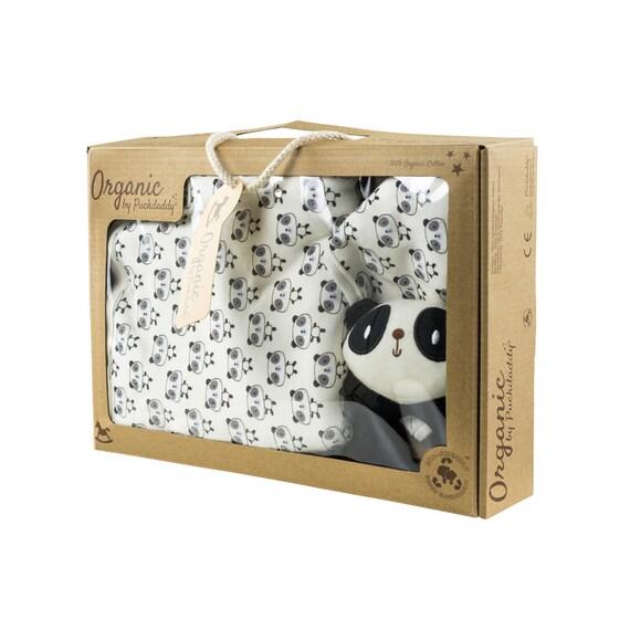 Puckdaddy Bio Baumwolle Baby Geschenkset Deckenset Streifen// Sterne hellblau