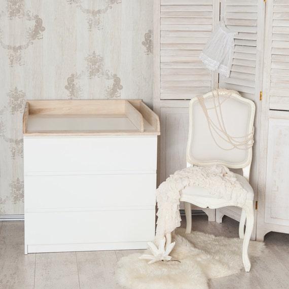 Puckdaddy Holz + Trennfach! Wickelaufsatz, Wickeltischaufsatz für IKEA Malm  Kommode