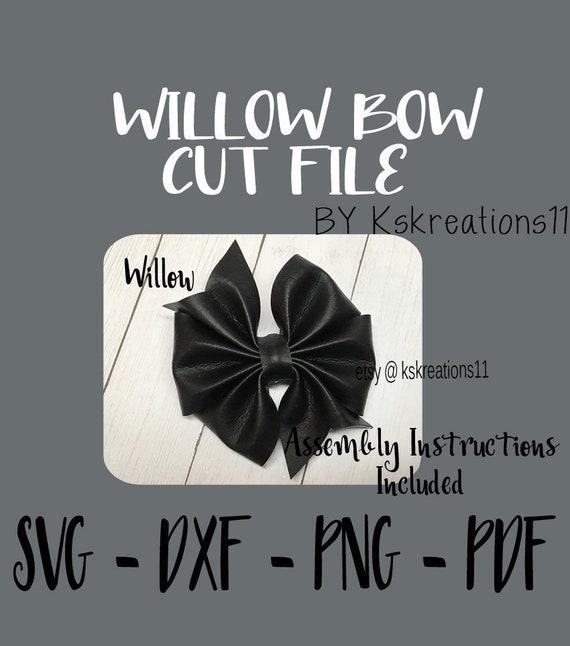 pdf png SVG Bow Cut File Dxf Template Cricut Cut File Pinwheel Silhouette Larkin Bow Cut File Pinch Bow