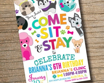 Adopt a pet invite Etsy