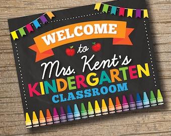 DIGITAL FILE - Classroom Welcome Sign - Classroom Sign - Classroom Decor - CPrintables - Personalized Teacher Sign - Teacher Door Sign