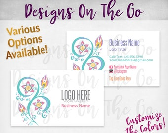 Blooming Stars Business Cards, Custom, Customize Colors, Various Options, Direct Sales, Consultant, Branding, Marketing, Foil