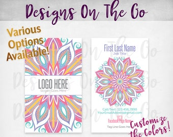 Darling Daisy Business Cards, Custom, Customize Colors, Various Options, Direct Sales, Consultant, Branding, Marketing, Foil