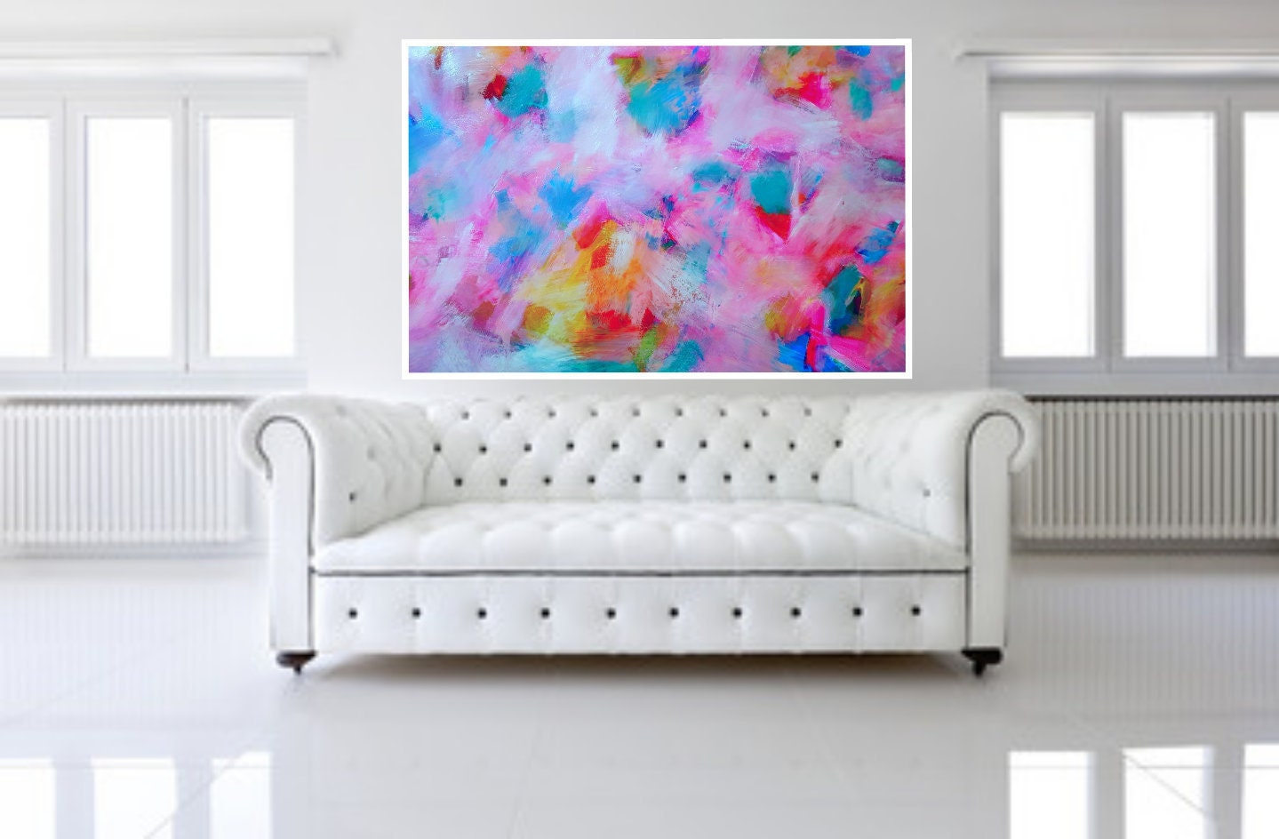 Top Modern Acrylic Abstract Painting Wall Art Print Printable