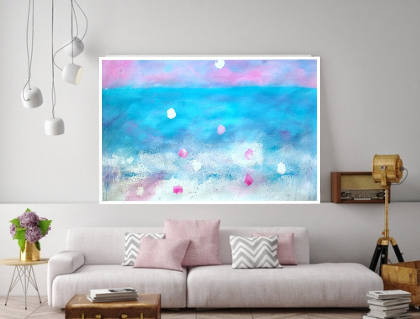 Printable Abstract Art Horizontal Painting Top Modern Large
