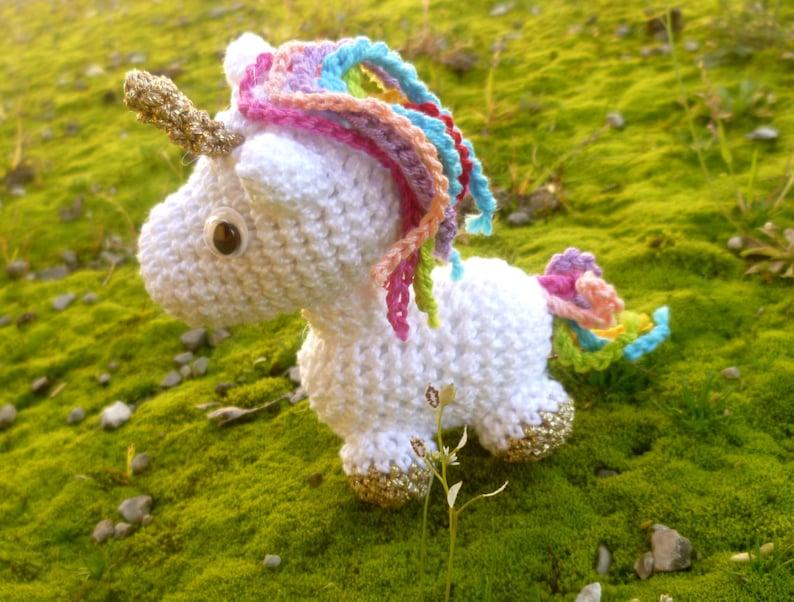 Unicorn Keyring Crochet Jewelry Bag Accessories Embellishment Etsy