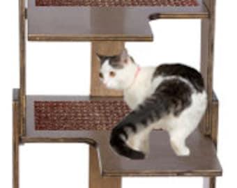 "72"" American Walnut Cat Tower"