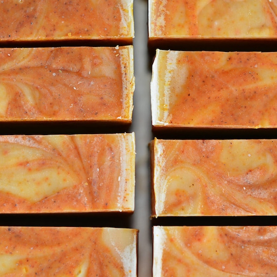Tea Tree and Orange w/ VT Oat Milk and an Annatto Swirl Handcrafted Artisan Soap