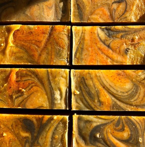 Orange Clove Vermont Goats Milk Soap w/ Activated Charcoal