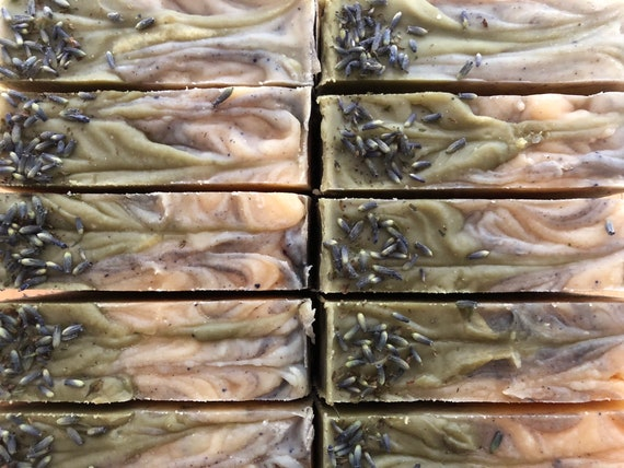 Lavender Spearmint Double Butter VT Oat Milk Soap