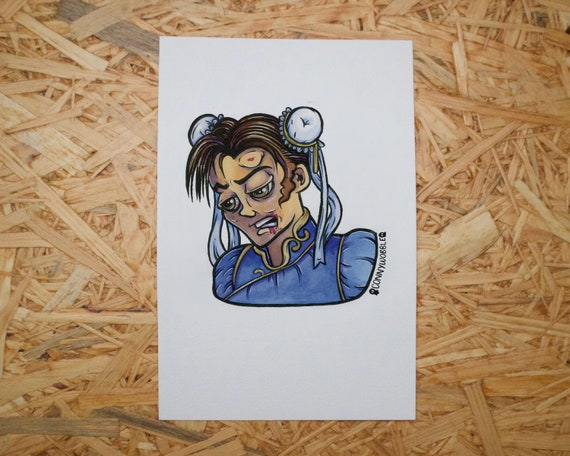 Street Fighter 2 Inspired Giclee Art Print Chun Li