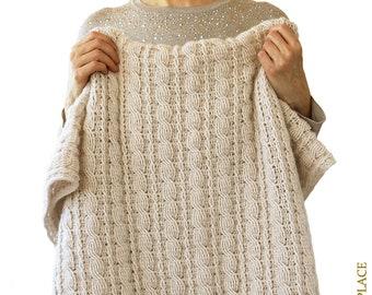 CROCHET PATTERN: Crochet Cable Blanket Pattern/Crochet Cable Afghan/Crochet Blanket With Cables/How To Crochet Cables/Modern Crochet Blanket