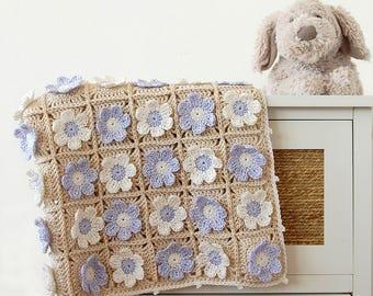 Crochet blanket PDF/Newborn blanket pattern/Crochet PDF tutorial/Crochet blanket pattern tutorial/Afghan pattern/Afghan PDF tutorial/Crochet