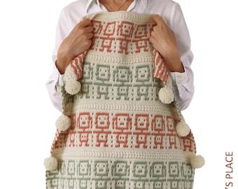 CROCHET PATTERN: BFF Mosaic Blanket, Crochet Baby Blanket, Baby Afghan, Mosaic Crochet Pattern, Modern Crochet,  Pdf Crochet Blanket Pattern