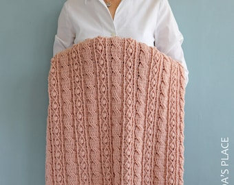 CROCHET  PDF PATTERN: Irina Blanket/Crochet Cable Blanket/Baby Blanket with Cables/Crochet Modern Blanket Pdf Pattern/Crochet Baby Afghan