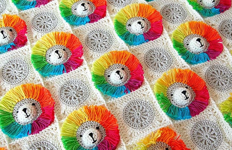 Crochet Pattern Baby Blanket / Baby blanket crochet / Rainbow image 0