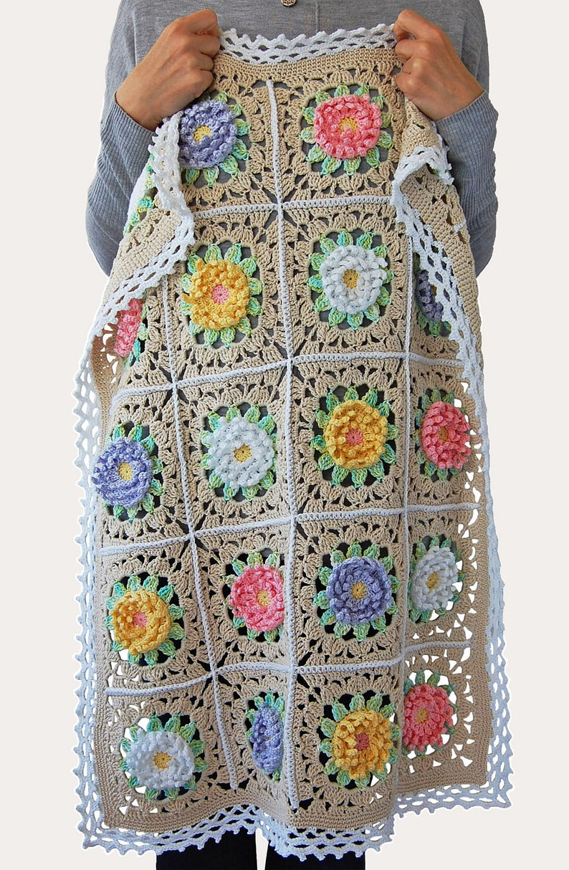 Floral blanket PDF pattern/Floral baby blanket/English Garden image 0