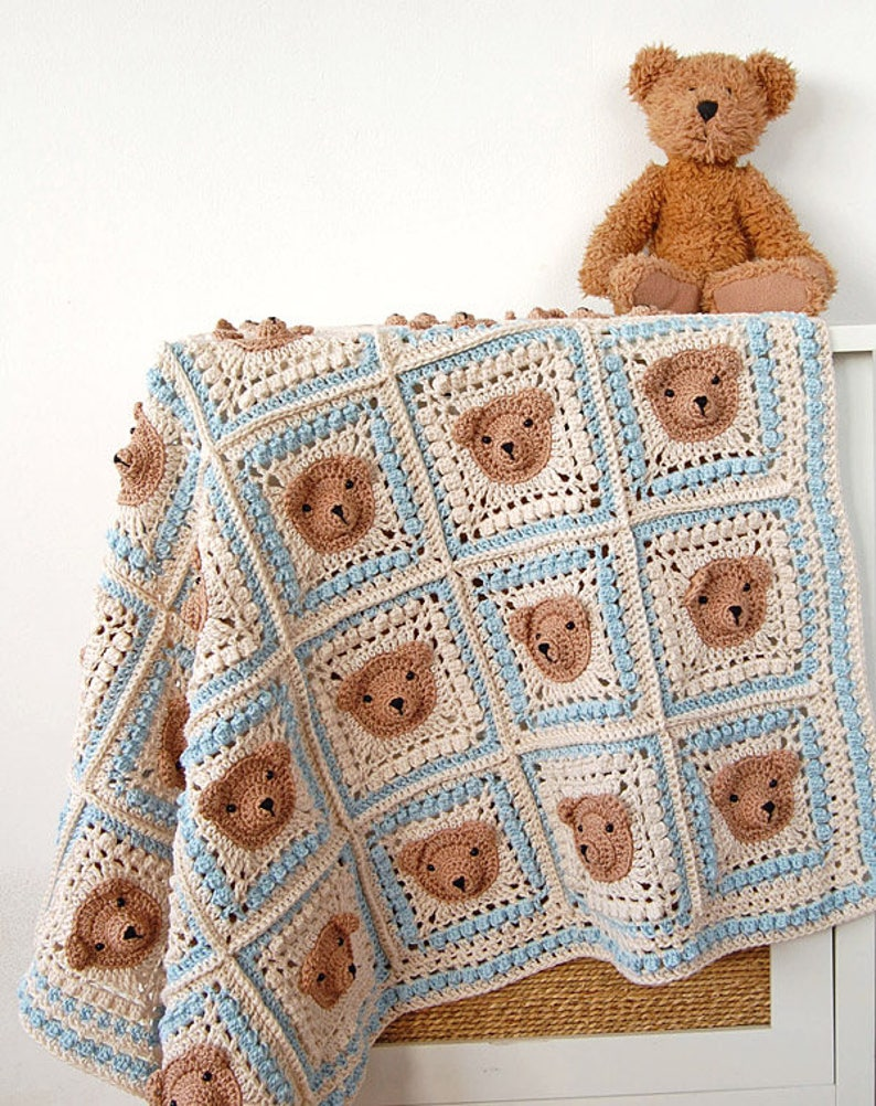 Crochet Pattern Teddy Bear Crochet Baby Blanket Pattern