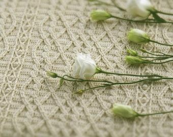 CROCHET BLANKET PATTERN: Maisy Blanket/Crochet Cable Baby Blanket/Crochet Afghan/Crochet Cabled Blanket/Modern Crochet Blanket/Baby Afghan