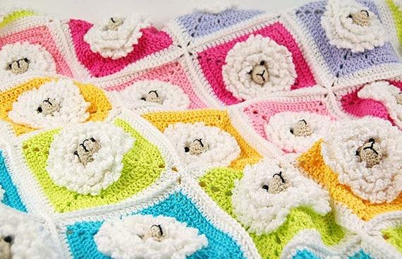 Häkelanleitung Decke/kleine Schafe Babydecke | Etsy
