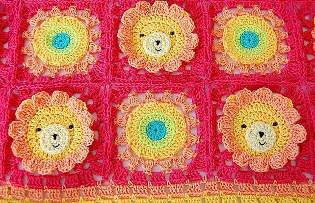 Häkelarbeitbaby Decke Muster / Muster/Tier Baby Decke/Lion | Etsy
