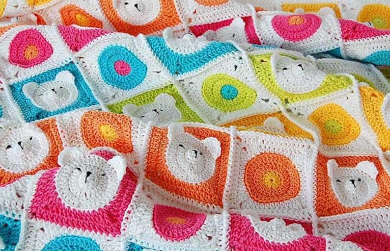 Teddy Bear Crochet Baby Blanket Pattern / Teddy bear image 0