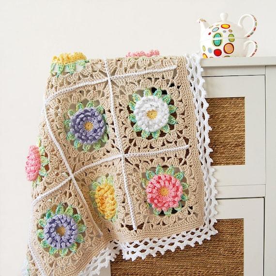 Blumen Decke PDF Muster/Floral Baby Decke/Englisch | Etsy