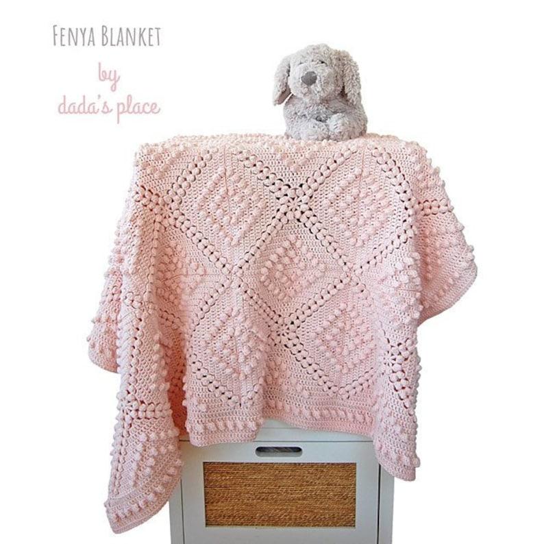 4344ce89d041e CROCHET PATTERN: Fenya blanket / Vintage style crochet blanket pattern and  step-by-step tutorial