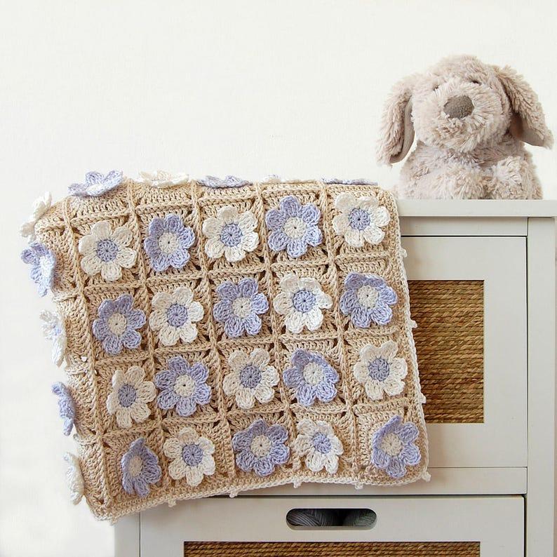 Crochet blanket PDF/Newborn blanket pattern/Crochet PDF image 0