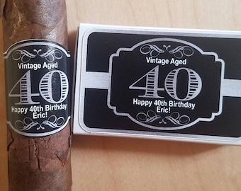 Personalized Cigar Labels Matchbox Set Bachelor Party Birthday Party Cigar Bands Matchbox Party Favor Wedding Matchbox Cigar Label Sets