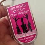 Personalized Cheer Team Dance Team Hand Sanitizer Favor 1oz with Clip Cheerleader Theme Hand Sanitizer Party Favor Custom Waterproof Labels