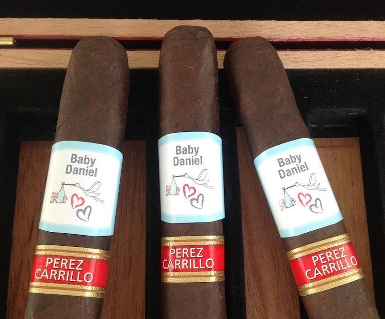 Baby Announcement Cigar Labels Party Favor We're Pregnant image 0