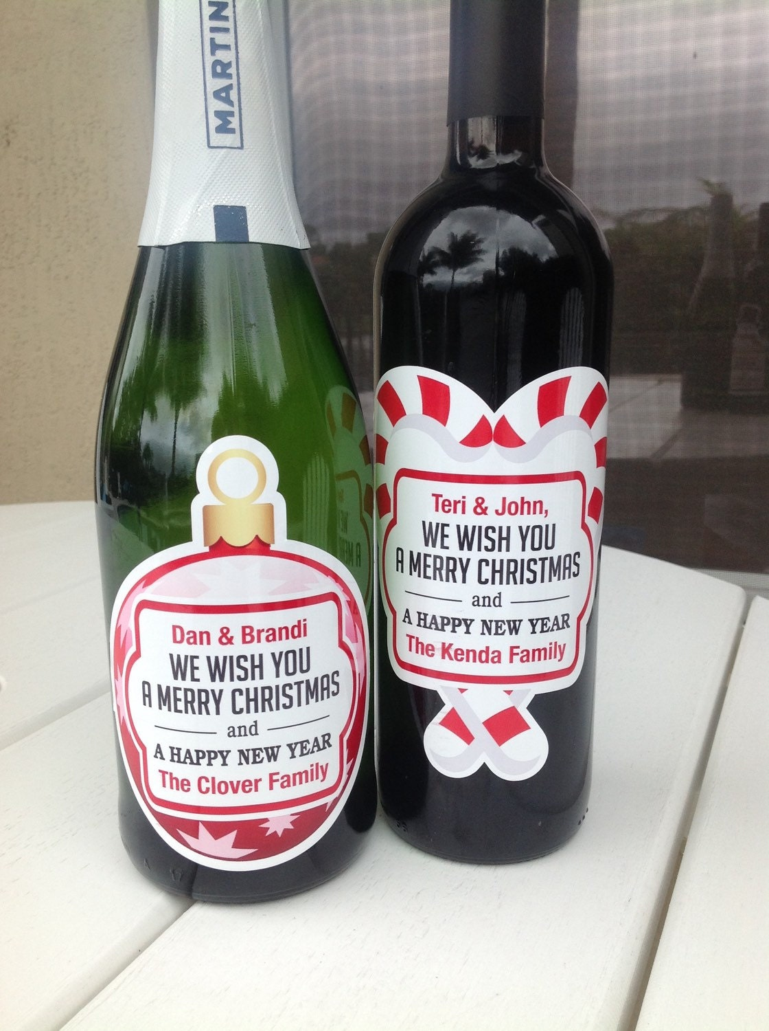 Personalized Chistmas Wine Labels Party Favor Holiday Wine   Etsy