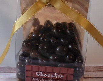 150gr Dark Chocolate Covered Espresso Coffee Beans = Personalised Gift Pack