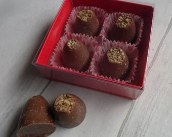 Valentines Edition - Salty Peanut & Caramel Milk Chocolates - Assorted Pack Sizes 4-12