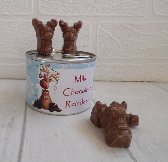 Chocolate Reindeer In A Tin