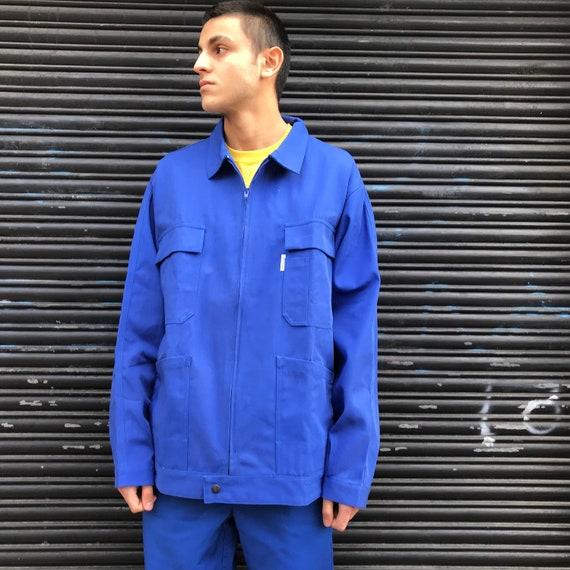 XXL Blue Molinel French Workwear Zip Jacket